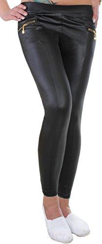 leggings-damen-schwarz-glanz-matt-taschen-vorne-mit-zierzipper-s-m-gj14a-2