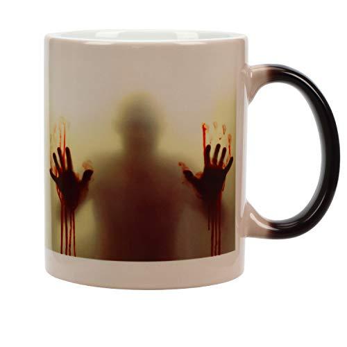 Incutex taza calor taza mágica que cambia de color - zombie