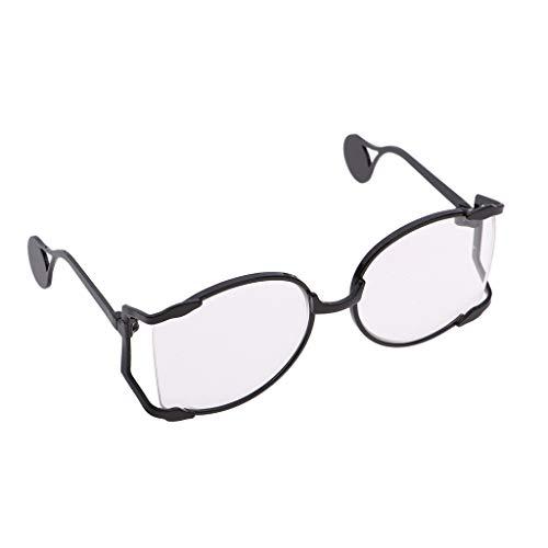 FLAMEER Modische Metallgestell Sonnenbrille Brillen Eyewear für Blythe Puppen Outfit Zubehör - Schwarz - 1
