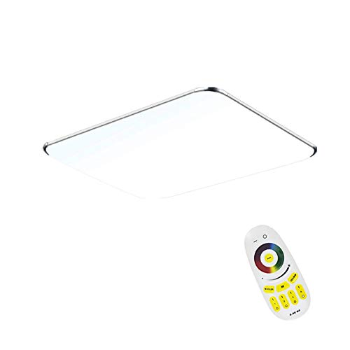 FROADP 64W LED Deckenleuchte mit Fernbedienung RGB Dimmbar - Ultraslim Modern led panel deckenlampe Küche Wandlampe Wohnzimmer Leuchte (64W RGB)