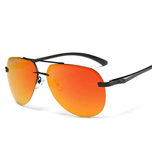 JU DA Sonnenbrillen Neue 2019 Legierung Rahmen Classic Driver Männer Sonnenbrille Polarized Beschichtung Spiegel Rahmen Brillen Luftfahrt Sonnenbrille Für Frauen Orange-Rot
