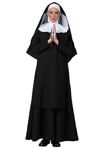 GGTBOUTIQUE Frauen- Deluxe Nonne Kostüm ()