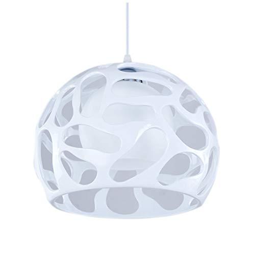 Pendellampe Modern Pendelleuchte Weiss Höhenverstellbar Runde Glas Lampenschirm Hängeleuchte Harz Kuppel Hängelampe E27 Einflammig Esszimmer Wohnzimmer Schlafzimmer Café Φ30*130CM -