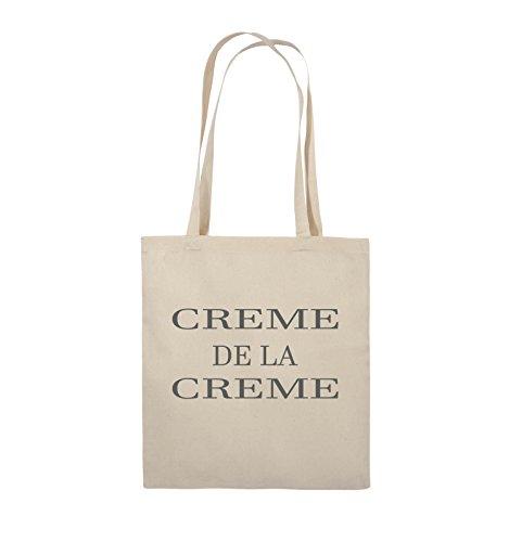 Comedy Bags - CREME DE LA CREME - Jutebeutel - lange Henkel - 38x42cm - Farbe: Schwarz / Pink Natural / Grau