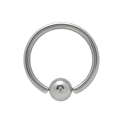 12 Gauge Surgical Steel Captive Bead Ring