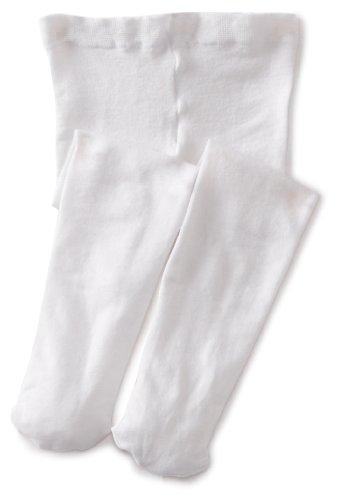 Jefferies Socks Baby-Girls Infant Pima Tight, White, 0-6 Months