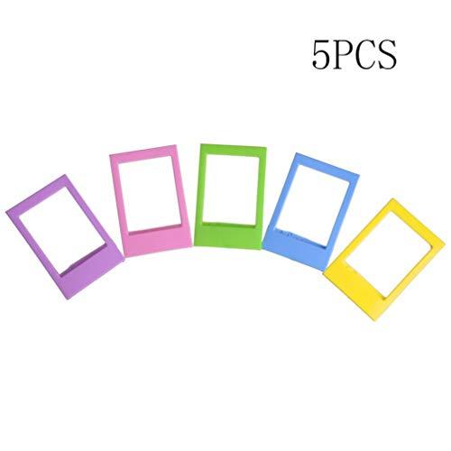 HMILYDYK Instax Mini-Fotorahmen, 7,6 cm, bunt, für Fujifilm Instax Mini 8/ 7S/ 90/25/ 50S/ 70 Filme, 5 Stück Polaroid Digital Photo Frames