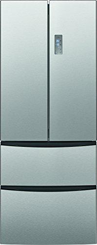 Bomann KG 2198 IX Kühl-/Gefrierkombination French door, EEK A+, Kühlen 293 Liter, Gefrieren 111 Liter, Total No Frost, LED-Frontdisplay, Inoxfront, 353 kWh/Jahr