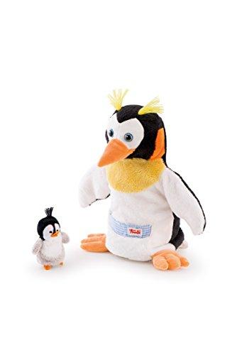 Trudi   Marioneta de Peluche pingüino con bebé (29997)