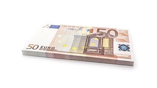 Cashbricks 75 x €50 Euro Spielgeld Scheine - vergrößert - 125% Größe (Poker Face Kostüm)