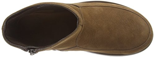 FitFlop - Loaff Shorty Zip, Stivaletti Donna Marrone (Chcolate Brown Nubuck)