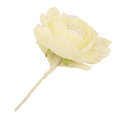 Sanjog Creamy Boutonniere Brooch Corsage Gift For Men