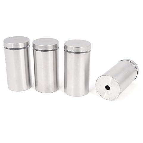 4 Pcs 2mm-10mm Glass Railing Standoff Holder Clamp 25mm x 50mm