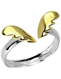 KEA ANGEL'S WINGS DUEL TONED STERLING SILVER RING FOR WOMEN 18K GOLD PLATED SILVER (SILVER AND GOLD COLOR,WEIGHT...