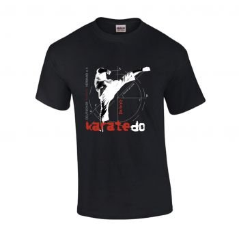 schweres schwarzes Qualitäts T-Shirt Mawashi Geri, Gr. XL