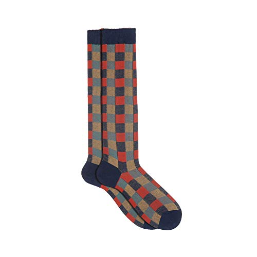 Gallo Calcetines Larga Socks Hombre Algodón Ligero TG. 40–45Lunares L2964 IRIS-MENTA Talla única