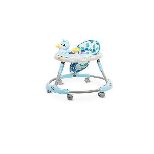 Btybess Walker Baby Baby Multi-Funktions-Anti Prolongation Mädchen-Junge-Anti-o Leg Kinder Musik, faltbare Aktivität Walker Helfer mit einstellbarer Höhe Baby-Tätigkeits-Walker mit hohen Rückenlehne G
