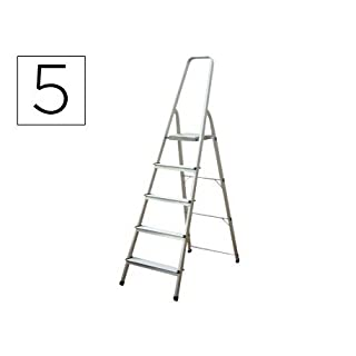 altipesa 8421446003059 Step Ladder 5 Steps Aluminium Ladder – Step Ladder with