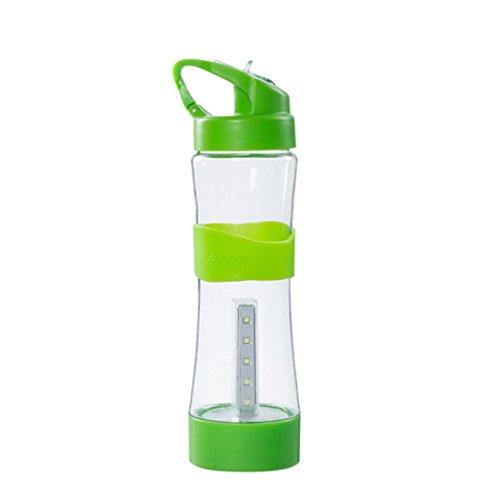 Colorful(TM) Reisebecher,LED USB wiederaufladbare Camping Nacht Camping Multifunktions Beleuchtung Tasse Wasserkocher (GN)