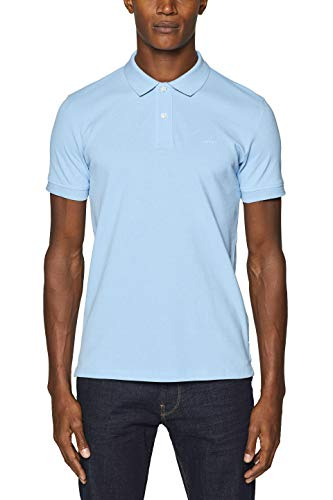 ESPRIT Herren 999EE2K803 Poloshirt, Blau (Light Blue 440), X-Large (Herstellergröße: XL) (Herren-pique-shirt)