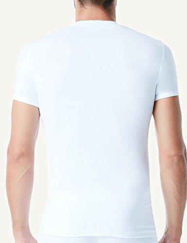 Intimissimi Herren Rundhals-T-Shirt mit halbem Arm aus elastischer Baumwolle Weiß - 001
