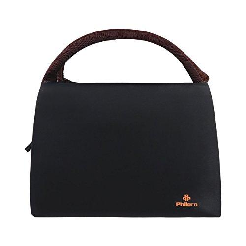 Philorn borsetta porta pranzo termica pranzo borse borsa alimenti lunchbox per scuola e ufficio, nero