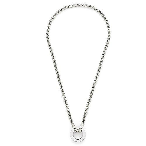 JEWELS BY LEONARDO Damen Herren Halskette Basic Pea Darlin's Edelstahl/silberfarben 45 cm Darlin's Clip groß Erbskette 015436