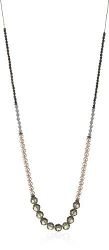 PILGRIM 604-111 Kette, Schwarzmetal, schwarz 100cm