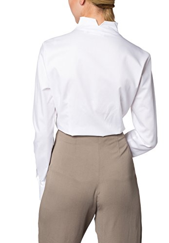 ETERNA Langarm Bluse COMFORT FIT unifarben Weiß