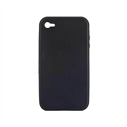 Flexible Silikon-Schutzhülle Bumper für Apple iPhone 4/4G/4GS hohe Qualität Stilvolle Made von E-port24® In-Colour Schwarz