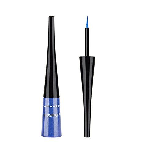 (3 Pack) WET N WILD MegaLiner Liquid Eyeliner Voltage Blue