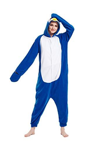 e18b7f6196 Fandecie Animal Costume Animal Traje Pijamas Pijamas Jumpsuit Kigurumi  Pinguino Mujer Hombre Cosplay Adulto para Carnaval