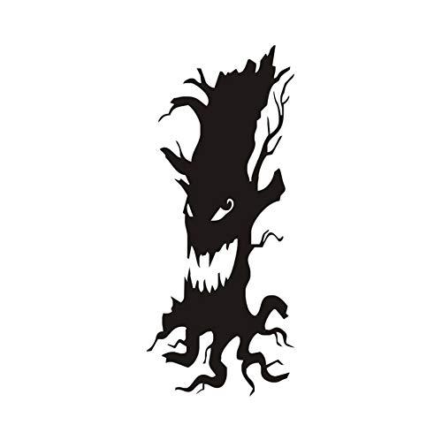 Unheimlich Baum Entfernbare Wandaufkleber Für Kinderzimmer Halloween Dekoration, Halloween Aufkleber Wandbild Tapete Party Home Dekorationen 25x59 cm