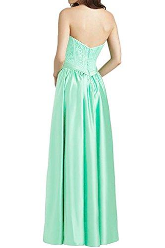 Promgirl House Damen 2016 Spitze Satin Herz-Ausschnitt A-Linie Abendkleider Cocktail Ballkleider Lang Schwarz