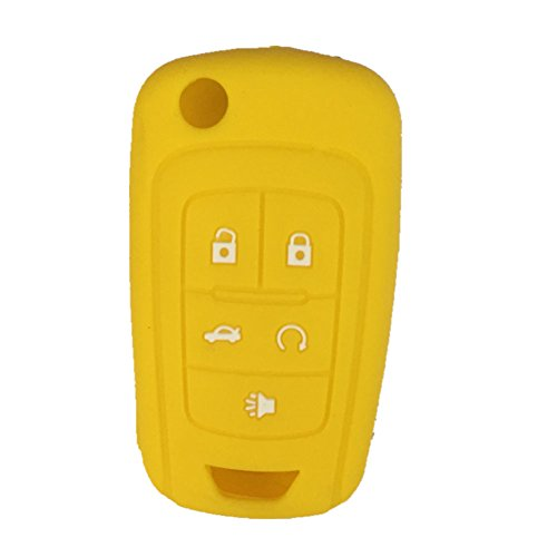 ezzy-auto-yellow-5-buttons-silicone-cover-holder-key-jacket-fit-for-chevrolet-camaro-cruze-volt-equi