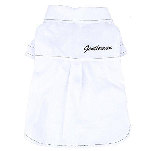 (smalllee_lucky_store Hund Kleidung Formales Hemd Gentleman Print T-Shirt Pet Coat für Kleine Hunde Boy)