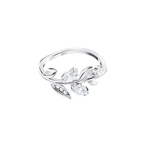 Swarovski Mayfly Ring, Weiss, Rhodiniert