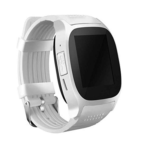 DXYAN Smart Watch Bluetooth Call Independent Card Call Sony HD Camera GPS Smart Positioning Music Player Android/iOS,White