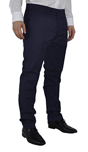 Michaelax-Fashion-Trade - Pantalon de costume - Droit - Uni - Homme Bleu - Blau (44)