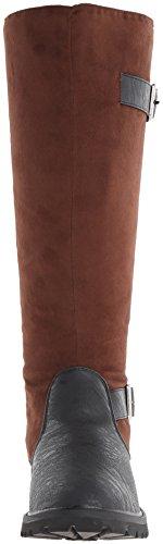 Funtasma gotham - 108 style steampunk lanière en cuir synthétique noir pour femme s-xL bottes marron Marron - Braun-Schwarz