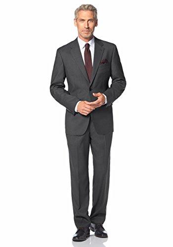 Anzug Businessanzug mit Krawatte von Studio Coletti in Grau gestreift Grau