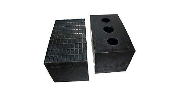 180x100x100mm Gummiauflage Mit Waffeloberfläche Für Wagenheber Und Hebebühnen Baumarkt