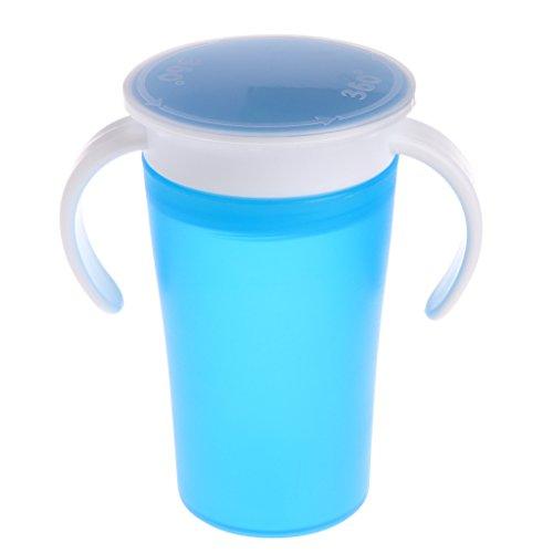 Lyguy Trinkbecher, 360 Grad Magisches Trinken, verhindert Auslaufen der Tasse, für Kinder und Studenten - blau