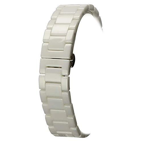 18mm Keramik-Armband-Uhrenarmband Band Faltschließe weiße Luxus-Keramik-Uhrenarmband Keramik-band
