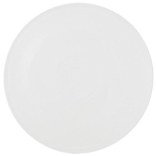 Utopia Anton Noir en porcelaine fine Z08000-000000-b01006 Plateau, rond, 30,5 cm (lot de 6)
