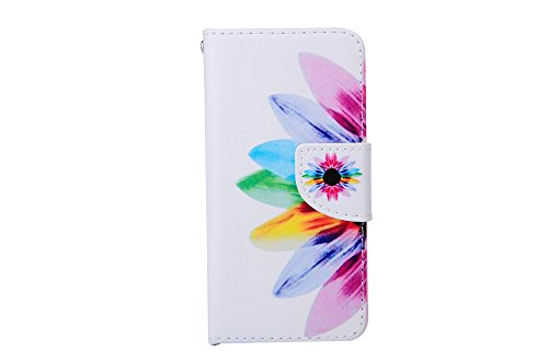iPhone 6 Custodia, iPhone 6S Cover, Felfy Elegante borsa in pelle Magnetico Portafoglio PU Cuoio Flip Custodia Case Cover Stand Protezione chiusura ventosa Have a nice day Design con Lanyard Strap Car Girasole Dandelion
