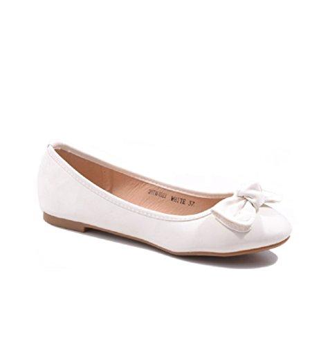 SexY Jumex Damen Ballerinas Turnschuhe Freizeit Schuhe 3HTW-6523 VIELE FARBEN** White