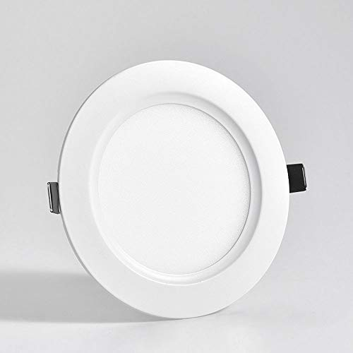Mogicry LED-Deckeneinbauleuchte Beleuchtung Aluminium Runde LED-Panel Licht Acryl Lampenschirm langes Leben Weiß-Strahler Einfach zu reinigen Runde Deckenplatte Licht nach unten Licht für Wohnzimmer -