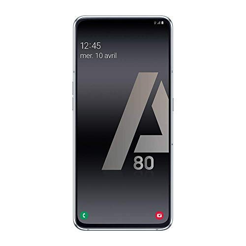 "Samsung Galaxy A80 Smartphone de 6.7"" FHD+ (Pantalla Infinita, 8 GB RAM, 128 GB ROM, versión española) Plata"