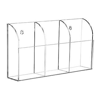 3. Generation Klaren Acryl Fernbedienungshalter Wandhalterung Büromaterial Zubehör Organizer Lagerung Caddy 3 Fächer